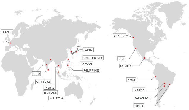 Reiyukai International Global Map